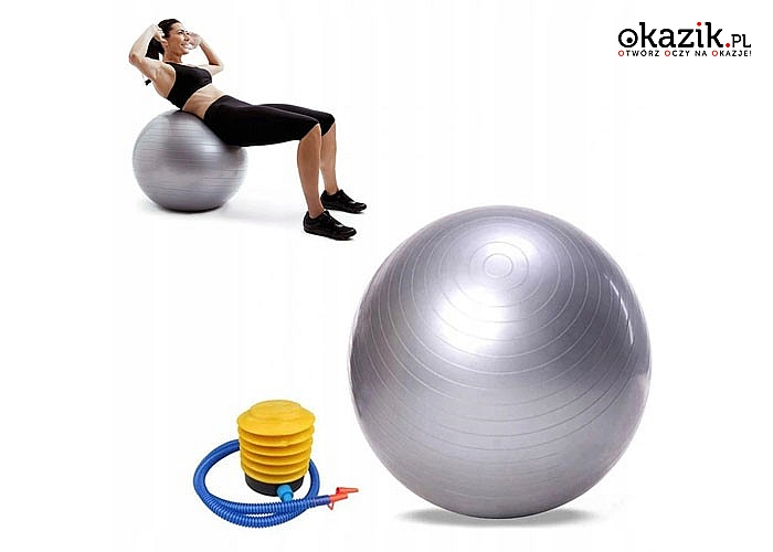 Piłka gimnastyczna to przyrząd treningowy wykorzystywany do wielu rodzajów ćwiczeń i rehabilitacji