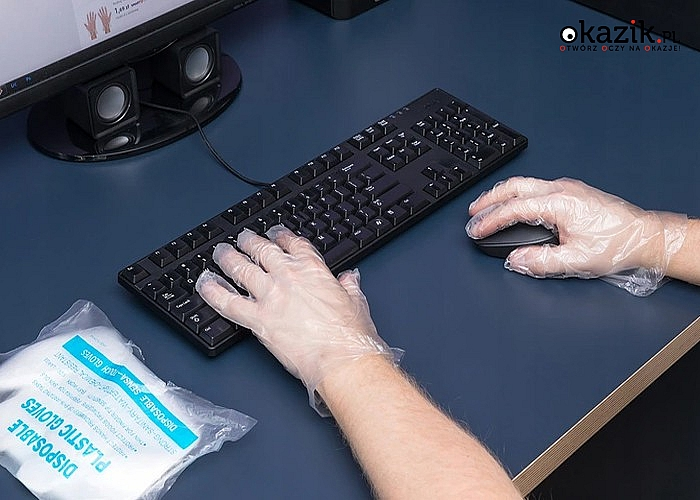 Foliowe rękawiczki jednorazowe! 1000 sztuk! Doskonała ochrona rąk!