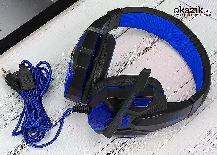 Słuchawki gamingowe! Niezbędne dla każdego prawdziwego gracza! Dostępne w dwóch kolorach!