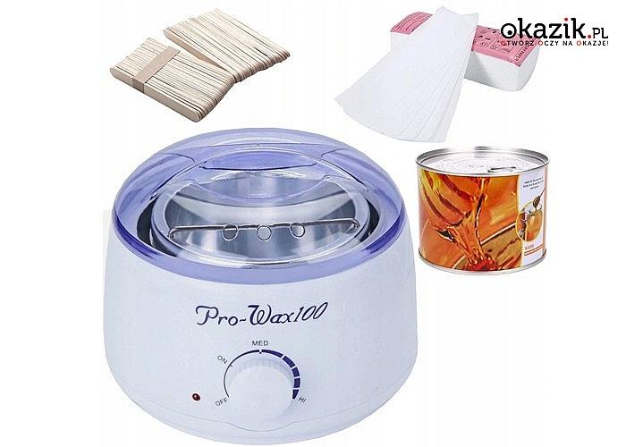 Zestaw do depilacji! Podgrzewacz, wosk i szpatułki w zestawie!