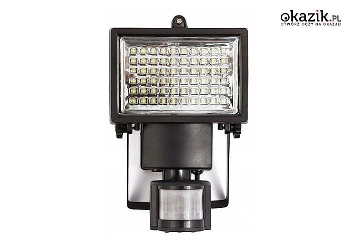 Lampa solarna LED! Posiada czujnik ruchu i zmierzchu! Ekologiczna i oszczędna!