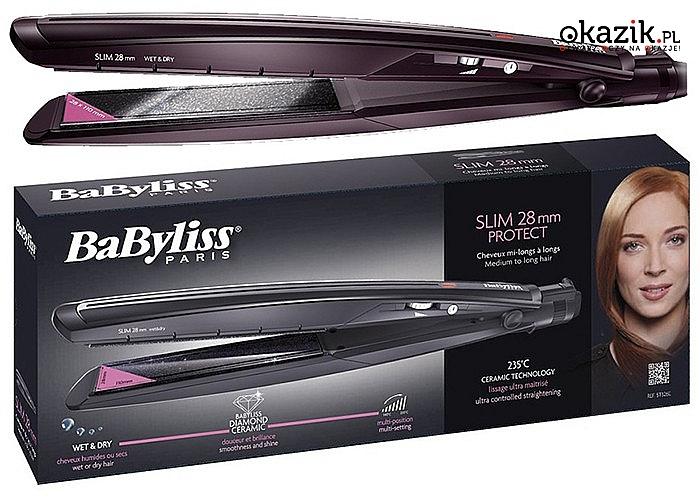 Prostownica Babyliss ST326E na suche i mokre włosy
