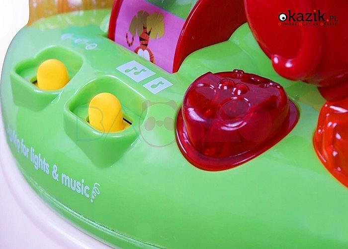 Kolorowy chodzik dla dziecka! Odtwarza dźwięki, muzykę oraz zadziwia migającymi światełkami!