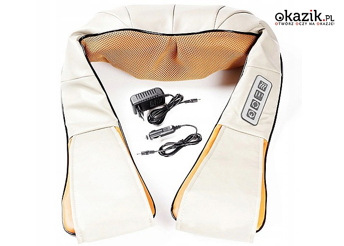 Masażer do pleców, karku i szyi! Idealna poduszka masująca, która pozwala na odprężenie i ukojenie bólu!