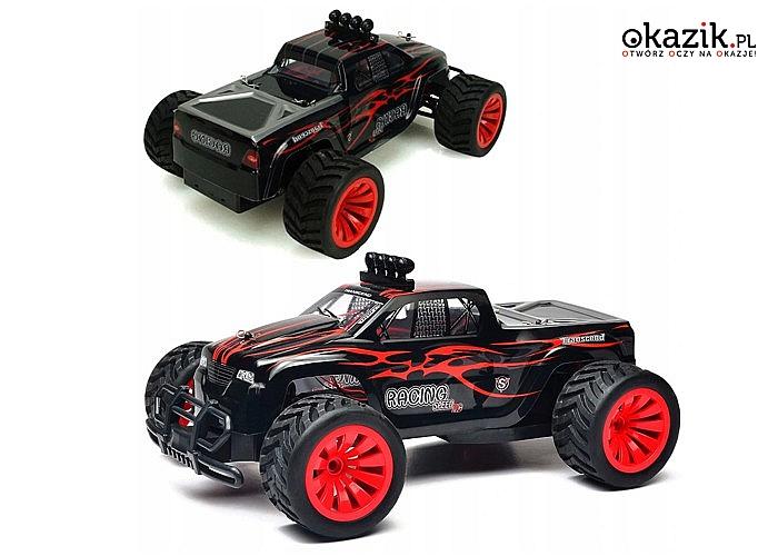 Zdalnie sterowany pojazd Monster Truck Off-Road! Solidne zawieszenie i mocny silnik!