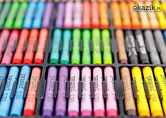 Zestaw artystyczny do malowania! 288 elementów! Rozwija wyobraźnię i umiejętności plastyczne!
