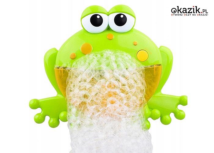 Kąpiel na wesoło! Żaba do automatycznego tworzenia piany z melodyjkami!