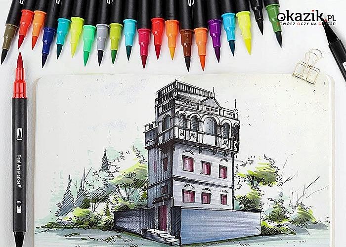 Pisaki dwustronne z szeroką gamą kolorów pozwoli na wyrażenie fantazji