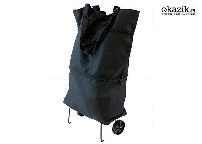 Lekki i wygodny sposób na przenoszenie zakupów tylko z praktycznym i funkcjonalnym  wózkiem na kółkach