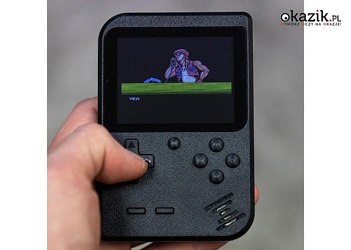 "Przenośna mini konsola 3""! Pegasus retro! 400 gier!"
