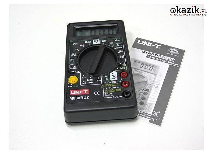 Podstawowe narzędzie każdego elektryka! Miernik elektroniczny LCD 830B
