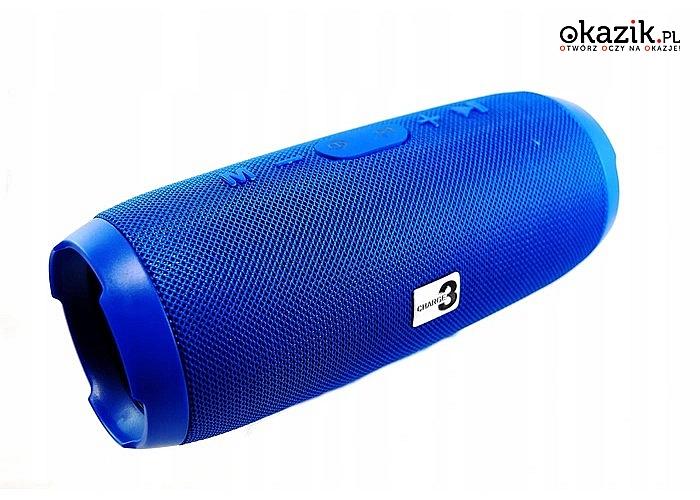 Głośnik bezprzewodowy! Mobilny z radiem FM Wysokiej jakości dźwięk i głębia basu!