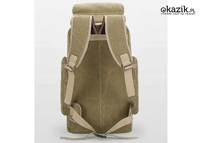 Bardzo pojemny plecak militarny, nie zastąpiony w każdej wyprawie survivalowej