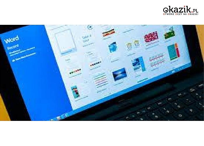 Roczny dostęp on-line do kursu Micrsoft Word 2013. Egzamin i Certyfikat on-line! (od 63 zł)