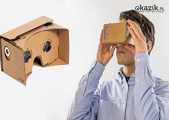 OKULARY GOOGLE CARDBOARD 3D VR – wirtualny świat 3D na wyciągnięcie ręki!