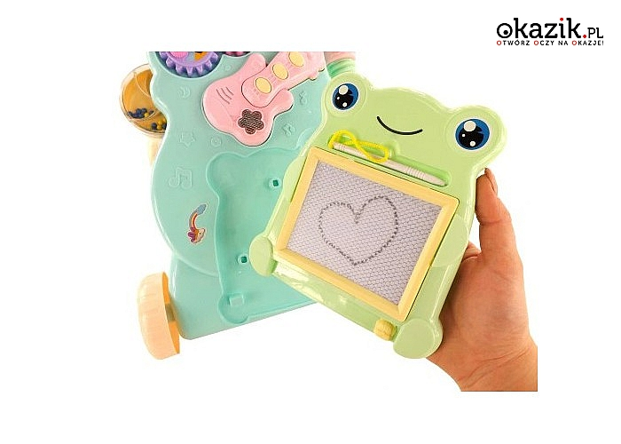 Kreatywna zabawka dla maluszków! Jeździk – pchacz z dodatkowymi elementami!