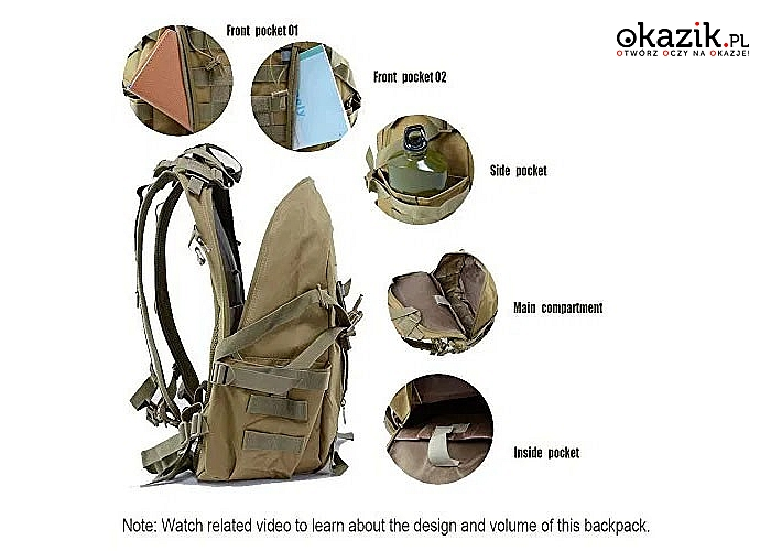 Praktyczny plecak taktyczny z materiału wodoodpornego idealny na każdą wyprawę