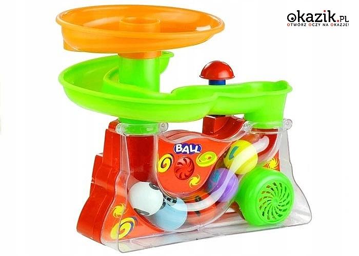 Wesoła kolorowa fontanna to zabawka interaktywna dla najmłodszych pociech