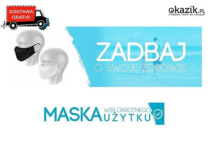 Maseczki ochronne wielorazowego użytku, z antybakteryjnymi jonami srebra. Polska produkcja
