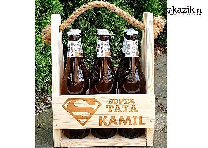 Spersonalizowane nosidełko na piwo, wyjątkowy prezent na imieniny ,urodziny oraz na DZIEŃ OJCA!!!