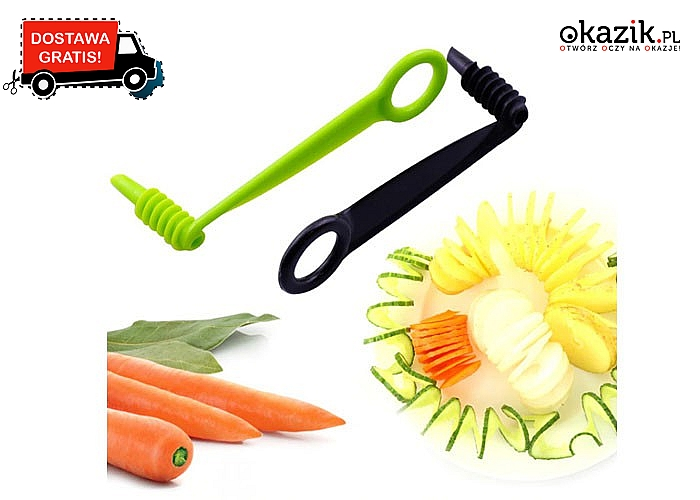 Wyczaruj niesamowite i kreatywne dania! Spirala do warzyw, która pomoże w przygotowaniu ciekawych wzorów!