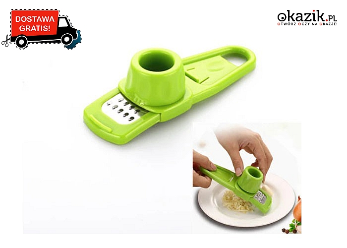 Zapomnij o ręcznym krojeniu! Tarka do czosnku! Niezbędny gadżet w każdej kuchni!