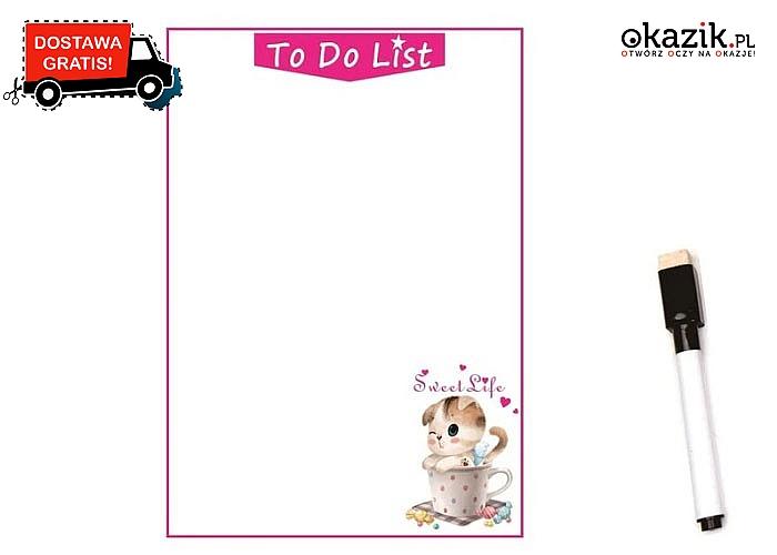 Magnetyczna lista rzeczy do zrobienia! Idealnie zaplanuj swój dzień, zakupy oraz ważne zadania do wykonania!