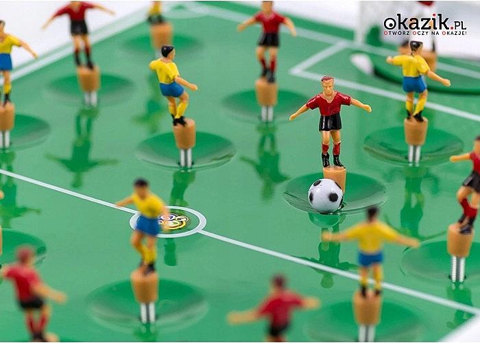 Niezapomniana gra! Piłkarzyki sprężynowe dla dwojga! Zestaw XXL!
