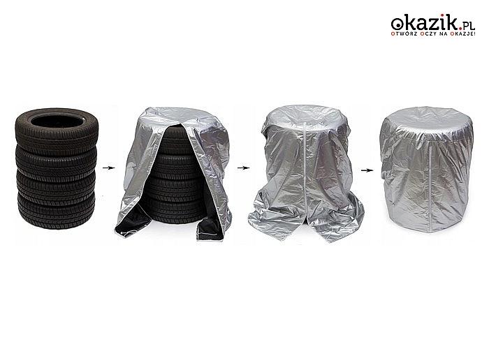 Zadbaj o swoje dodatkowe opony i koła! Wodoodporny pokrowiec! Idealny dla opon w rozmiarach 13-17 cali!