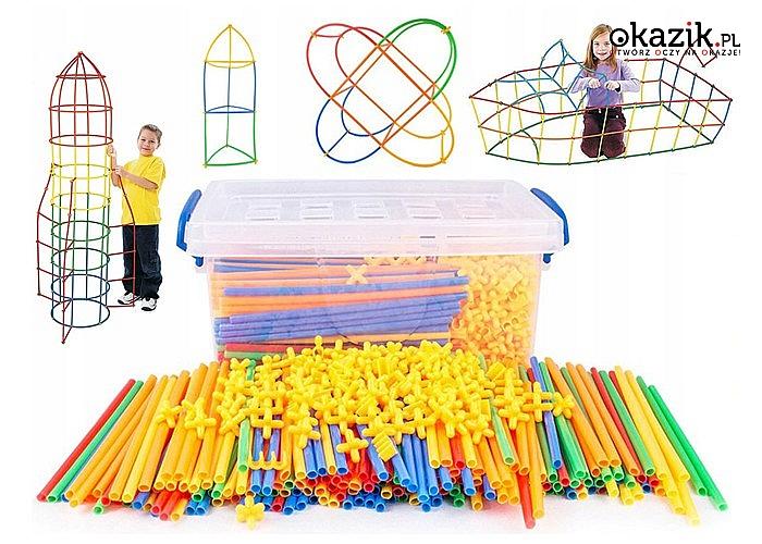 Klocki konstrukcyjne! Aż 800 elementów w zestawie! Pobudź kreatywność swojego dziecka!