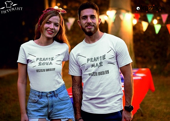 Szukasz pomysłu na wyjątkowy prezent dla ukochanej? Przygotowaliśmy zestaw dwóch koszulek, dla NIEJ i dla NIEGO