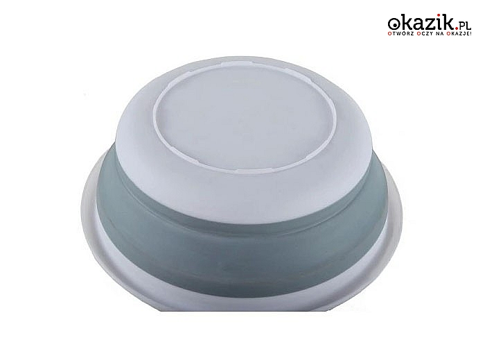 Składana miska silikonowa, która zaoszczędzi miejsca, a jednocześnie dużo pomieści