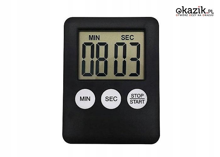 Elektroniczny minutnik kuchenny z magnesem zdecydowanie ułatwia przygotowanie potraw w kuchni