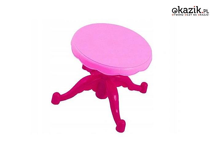 Toaletka, marzenie każdej dziewczynki,ze światełkami, dźwiękami i lustrami otwieranymi za pomocą różdżki