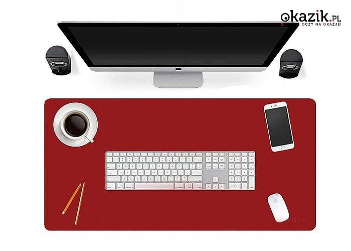 Absolutny hit! Podkładka na biurko wykonana z eko skóry w różnych kolorach
