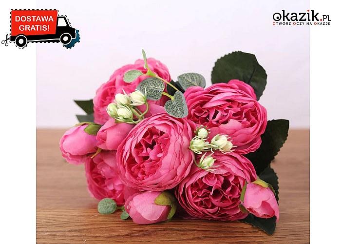 Kwiaty jak żywe! Przepiękny bukiet piwonii! Kilka kolorów do wyboru!