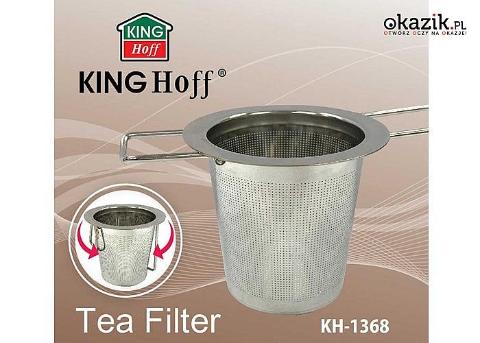 Zaparzacz na kubek pozwoli cieszyć się aromatycznym i esencjonalnym smakiem herbaty lub ziół bez pływających fusów