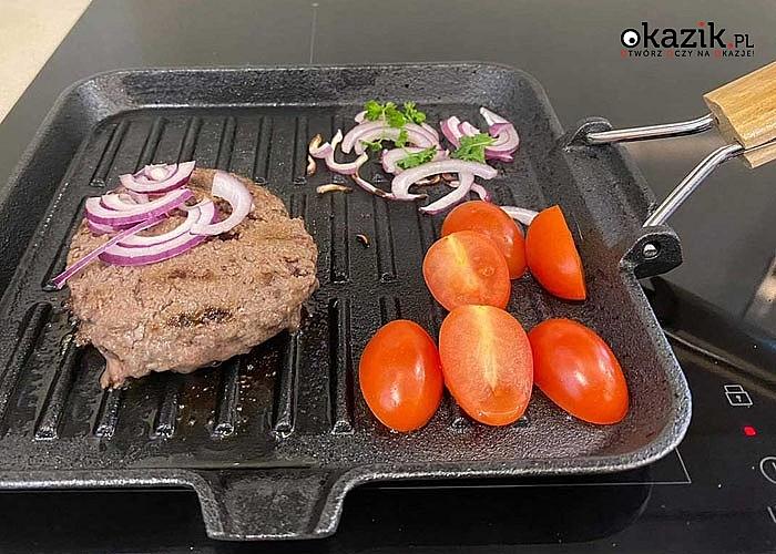 Patelnia grillowa pozwoli przygotowywać zdrowe i aromatyczne potrawy bez zbędnego tłuszczu
