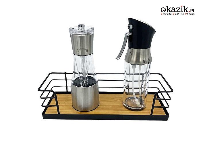 Praktyczna półka kuchenna sprawdzi się do przechowywania przypraw i ziół, pomoże utrzymać porządek