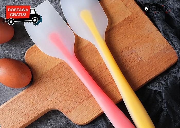 Silikonowa łopatka do mieszania idealna do wypieków, przydatna w życiu codziennym w kuchni