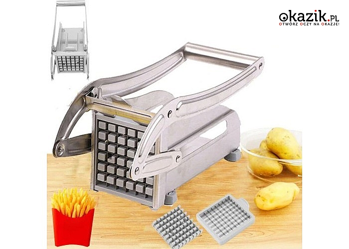 Maszynka do krojenia frytek! Bardzo łatwa w użyciu! Zaoszczędź swój czas!