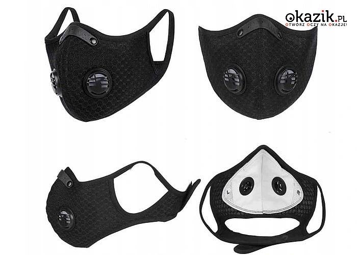 Maski z wymiennym filtrem HEPA N99, produkt doskonały dla osób aktywnych, które szczególnie chcą dbać o swoje zdrowie