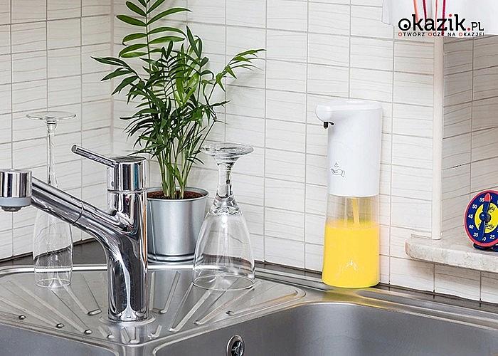 Bezdotykowy dozownik do mydła lub płynu do dezynfekcji! Higieniczne urządzenie niezbędne w Twoim domu lub miejscu pracy!