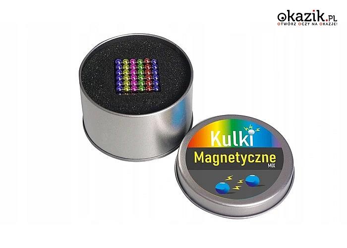 Magnetyczne kulki neodymowe! Mix kolorów! 216 sztuk! Zabawa dla każdego!