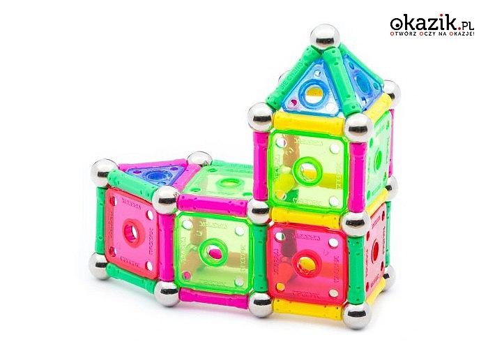 Klocki magnetyczne! 110 elementów! Uniwersalna zabawka uwielbiana przez dzieci!