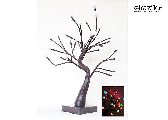 Lampka w kształcie drzewka bonsai! Sprawdzi się się nie tylko jako świąteczna ozdoba! Oświetli każde nowoczesne wnętrze!