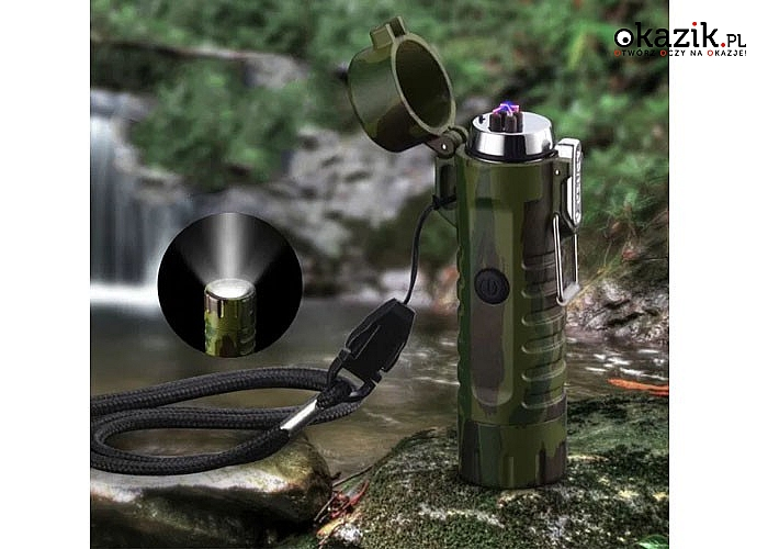Wodoodporna zapalniczka plazmowa i latarka w jednym, dedykowana między innymi miłośnikom survivalowych gadżetów