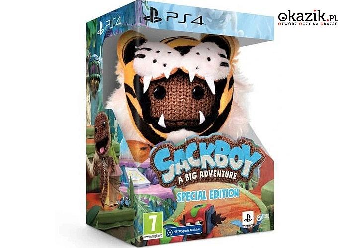 Sackboy: A Big Adventure - Special Edition Gra PS4 (Kompatybilna z PS5) W zestawie z maskotką !