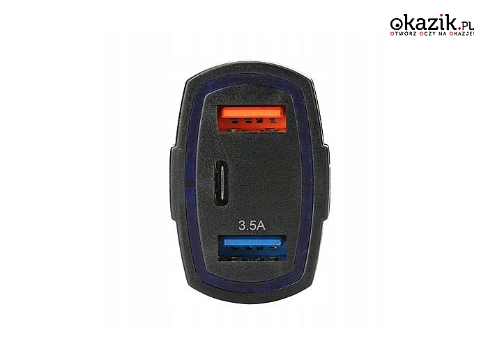 Ładowarka samochodowa służąca do ładowania Twoich urządzeń USB podczas podróży