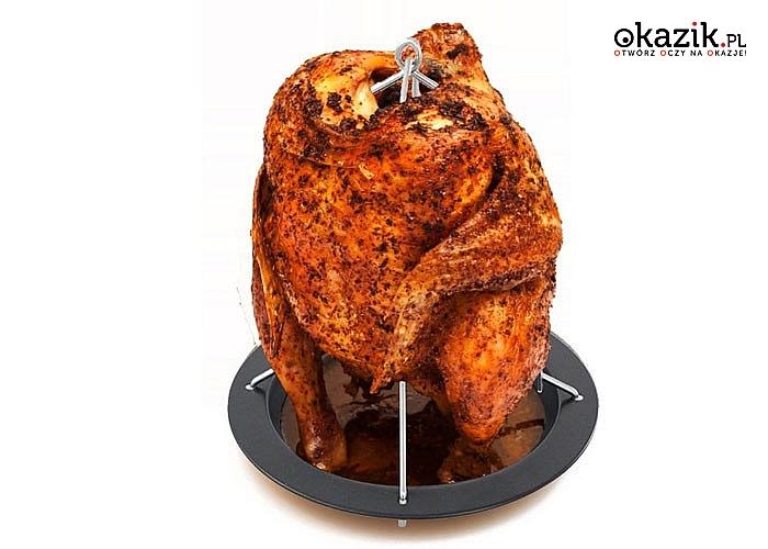 Stojący ruszt do pieczenia kurczaka. Zdrowo, smacznie i dietetycznie